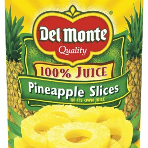 Del Monte Canned Pineapple Slices in 100% Juice, 20 Ounce