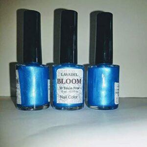 HALAL Bloom 10 Free NON-TOXIN BLUE color Nail colors