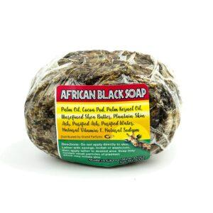 Raw African Black Soap - Face & Body Wash, 4-5 Oz Organic Beauty Bar
