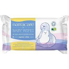 Natracare Organic Cotton Baby Wipes 50 ct (6-Pack)