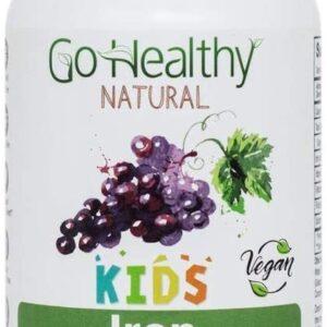 Go Healthy Natural Kids Iron Gummies - Vitamin C, B12, Folic Acid