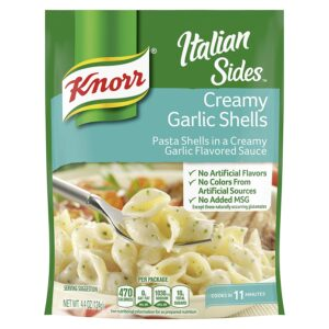 Knorr Italian Pasta Side Dish, Creamy Garlic Shells, 4.4 oz (Pack of 12)