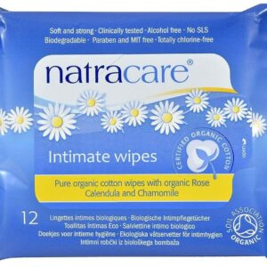 Natracare Organic Cotton Intimate Wipes (12 Wipes)