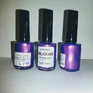 HALAL BLOOM 10 Free NON TOXIN purple Nail Color