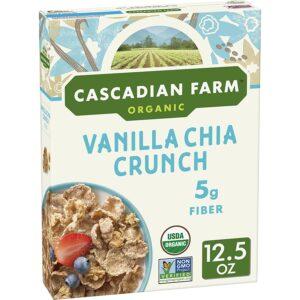 Cascadian Farm Organic Vanilla Chia Crunch Whole Grain Oats, 12.5 oz