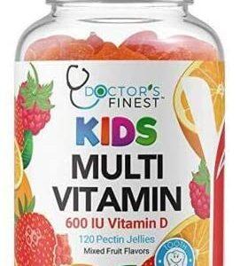 Doctors Finest Multivitamin Gummies for Kids – w/ Zinc, Vitamins A, B, C, D & E, Vegetarian, GMO-Free & Gluten Free