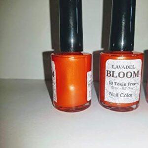 HALAL Bloom 10 Free NON-TOXIN orange color Nail colors