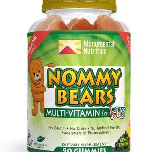 Nommy Bears MULTIVITAMIN Gelatin-Free Gummies: for Kids, Children, Teens, Adults