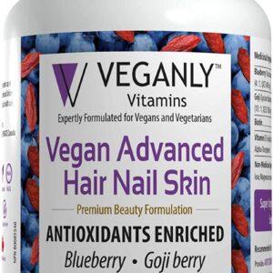 VEGANLY Vitamins One-Daily Vegan Advanced Hair Nail Skin.