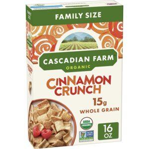 Cascadian Farm Organic Cinnamon Crunch Cereal, 16 oz