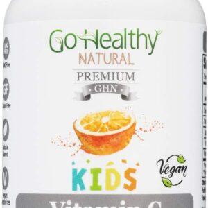 Go Healthy Natural Vitamin C Gummies for Kids Vegan with Organic Ingredients Low Sugar 125mg C per Gummy- 60 Servings