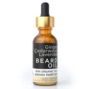 Grand Parfums MEN'S Beard Oil 100% Organic Natural