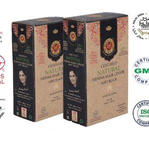 Herbal Me - Soft Black Henna Hair Color Combo ,CERTIFIED 100% VEGAN & HALAL