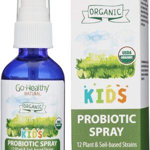 Go Healthy Natural Kids Liquid Probiotic Skin Care Topical Spray- USDA Organic Vegan Kids Baby Toddlers
