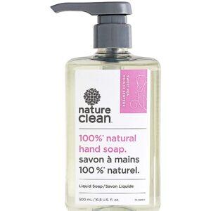 NATURE CLEAN Liquid Hand Soap, Sweet Pea Lemon Balm, 16.8 Fl. Oz