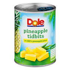 Dole, Pineapple Tidbits in Juice, 20 Oz