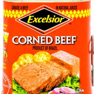 EXCELSIOR Corned Beef, Halal A Grade Corned in Natural Juices, 12 Ounce