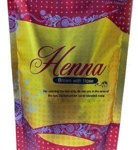 Hemani Natural Henna Powder 5.3oz (150 Gram) (Brown with Rose)
