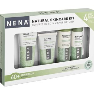 NENA Natural Skincare Kit | 4-Piece Daily Skin Essentials for Women & Men