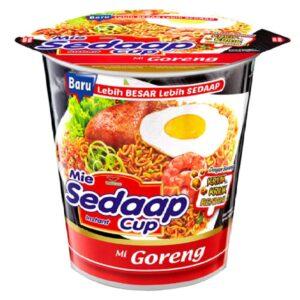 Mi Sedaap Cup Noodle 72g/77g/83g (628MART) (Mi Goreng 83g, 8 Count)