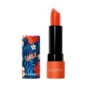 Almay Lip Vibes, Smile, 0.14 Ounce, matte lipstick