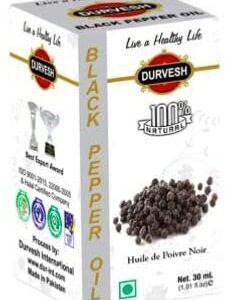Durvesh Black Pepper Oil 1 oz / 30 ml زيت الفلفل الاسود