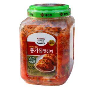 Jongga Mat Kimchi - 88 oz. (2.5 kg) Imported from Korea - Kosher Certified - Cut Cabbage Kimchi - Halal