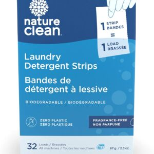 NATURE CLEAN Laundry Detergent Strips Fragrance Free 67 Gram,